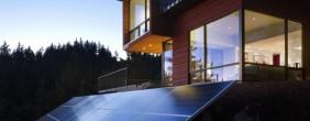 Paneles solares de vivienda unifamiliar